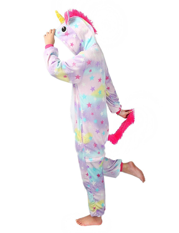 M, Blue Misslight Unicornio Pijamas Animal Ropa de dormir Cosplay Disfraces Kigurumi Pijamas para Adulto Ni/ños Juguetes y Juegos