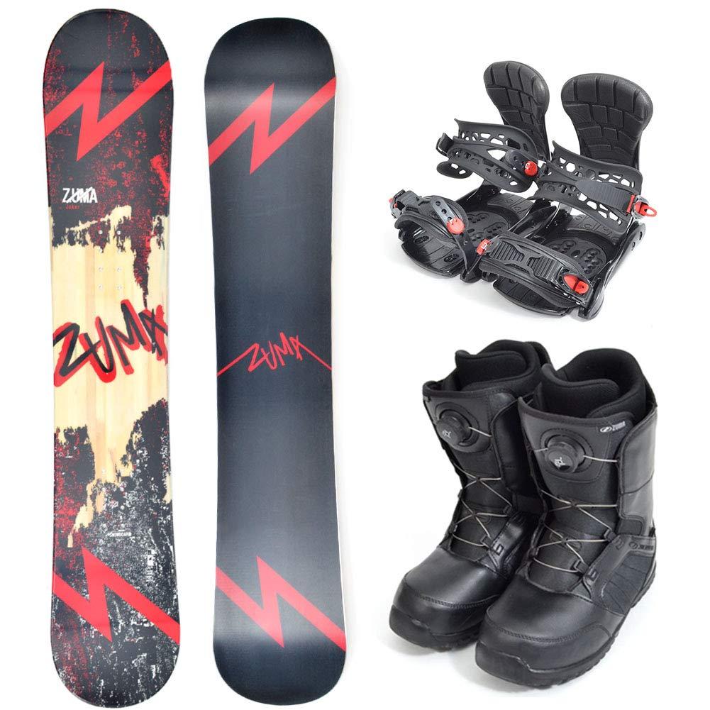 ZUMA (ツマ) メンズ スノーボード メンズ 3点セット 板 ボード バインディング ブーツ JOKER 赤 初心者 zuma-set-d  板153cm/バインML/ブーツ27.0cm