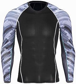 Enzola T-Shirt à Manches Longues Men 's Compression Series: H