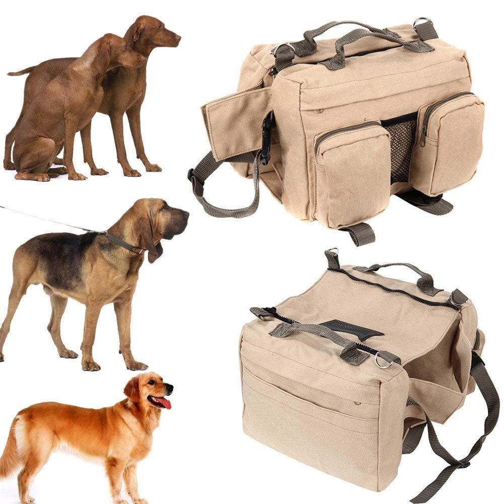 Large Dog Pack Hound Backpack Foviza Travel Rucksack Carrier Dogs Saddle Bag for Hiking