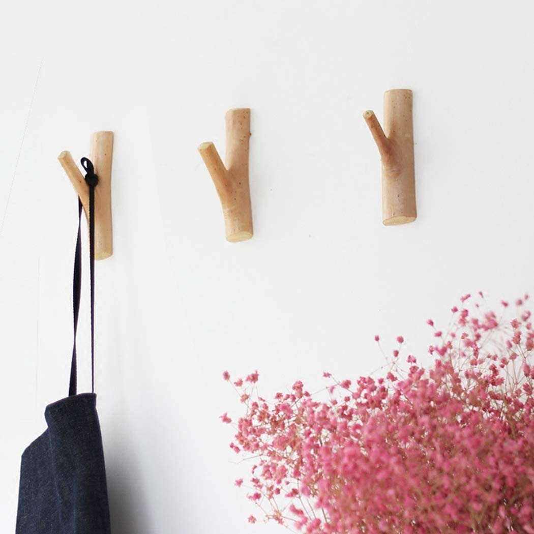 JUSTDOLIFE 2 PCS Coat Hook Handmade Decorative Creative Wall Hanging Hook for Home Decor