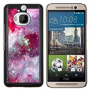 Eason Shop / Premium SLIM PC / Aliminium Casa Carcasa Funda Case Bandera Cover - Cosmos Espacio púrpura Estrellas - For HTC One M9+ M9 Plus