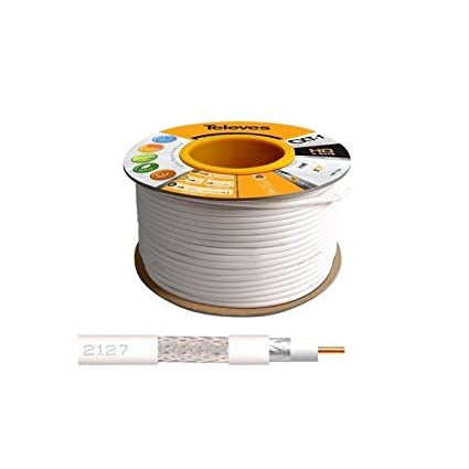 Televes - 100M Cable Coaxial Blanco 17 VATCS ClassA Televes 2127 CXT-1 - 2127