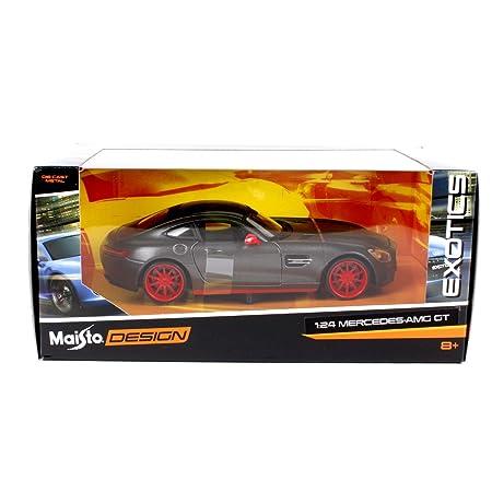 Penao Mercedes-Benz AMG GT Modificado Modelo de Simulación Aleación Coche, Coche Modelo Ornamentos, Relación 1:24: Amazon.es: Jardín