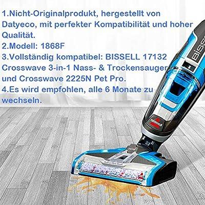 Datyeco Bissell Crosswave - Juego de 4 rodillos de cepillo 3 en 1 ...