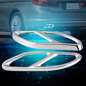Unibell 1 Pair Exhaust Tail Pipe Cover Trims Silver Fit for Mercedes Benz A-Class W176 2016-2019