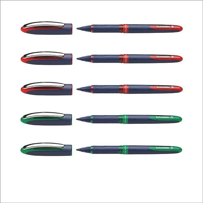Tintenroller Schneider One Business 0.6mm f/ünf Stifte Blau