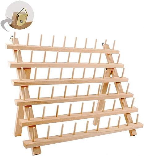 Stickgarn-Organizer aus Holz Holzst/änder-Organizer zum N/ähen von Garnspulen Quilten #1 40-Spool N/ähgarnst/änder Sticken