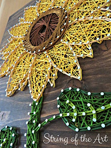 String Art Kit - Sunflower String Art, Arts and Crafts Kit, Adult Crafts, Crafts Kit, DIY Kit, Sunflower Decor, Kits for Adults, String Art Patterns, Crafting Kits, all supplies included