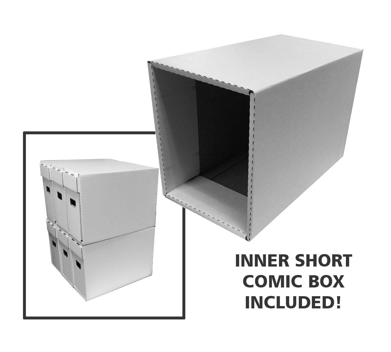 BCW 1-BX-Long-PL-WHI White Plastic Long Comic Storage Boxes