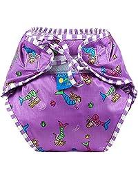 Kushies Baby Unisex Swim Diaper - Medium,Mermaids Print,Medium,