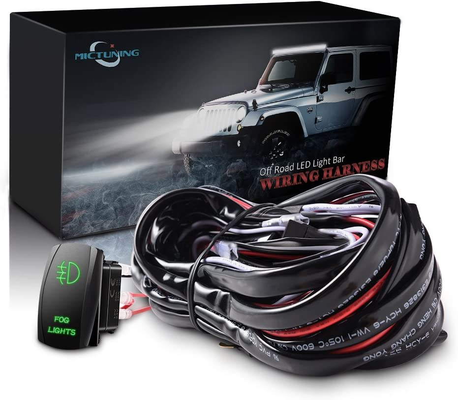 61ACJLxwzlL._AC_SR201266_ amazon com driving, fog & spot lights lighting assemblies cyclops light bar wiring harness kit at nearapp.co