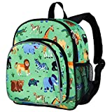 Wildkin Olive Kids Wild Animals Small Pack N Snack Backpack