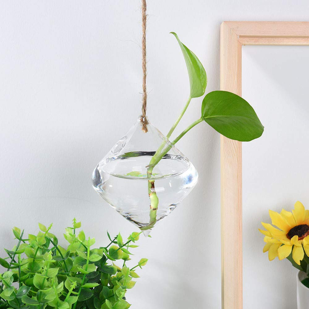 FIged Plant Garden Devices Hanging Glass Ball Vase Flower Plant Pot Terrarium Container Party Wedding Decor