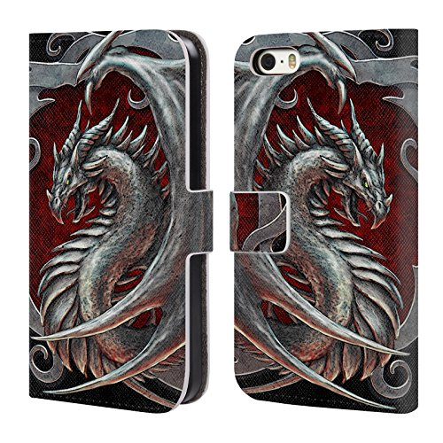 - Official Christos Karapanos Talisman Silver Dragons 2 Leather Book Wallet Case Cover for iPhone 5 iPhone 5s iPhone SE