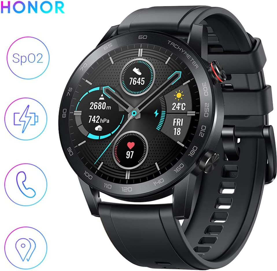 HONOR Smartwatch Magic Watch 2, 46mm Reloj Inteligente con Pulsómetro, hasta 14 días de Batería, 5ATM Waterproof, Pantalla Táctil Amoled de 1.39