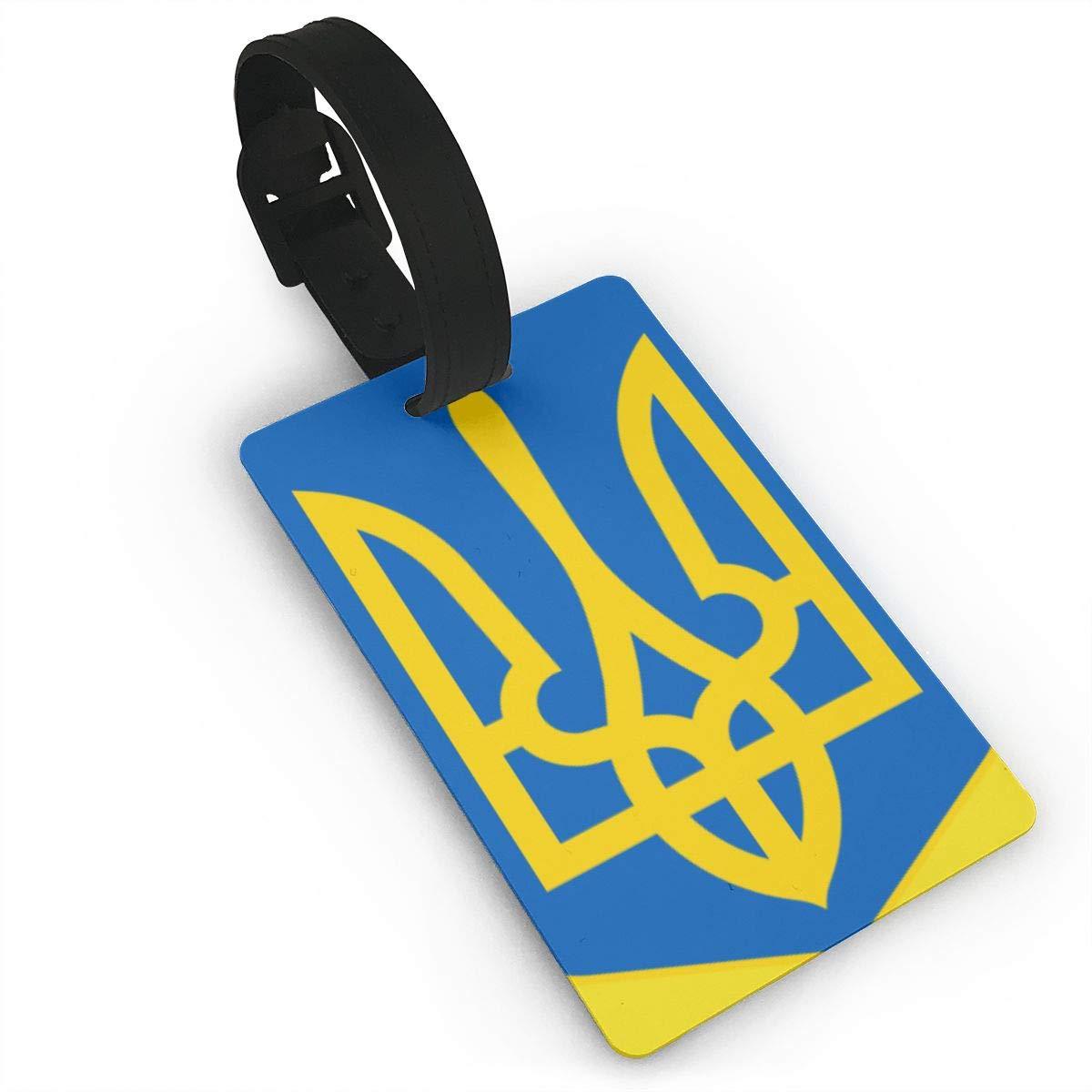 KODW12 Lesser Coat of Arms of Ukraine Luggage Tag Travel Bag Labels Suitcase Bag Tag Name Address Cards