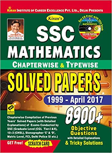 Buy SSC Mathematics Chapterwise & Typewise Solved Papers
