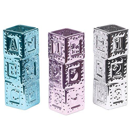 Skalny Alphabet Block Ceramic Vase Set, 2.75