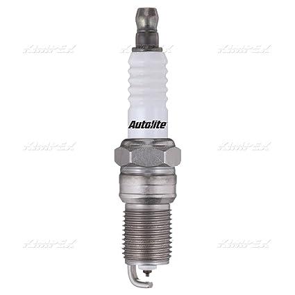 Amazon.com: Autolite Double Platinum Core Spark Plugs Resistor Gasket Seat 14mm x 1.25 Thread (Quantity 12): Automotive