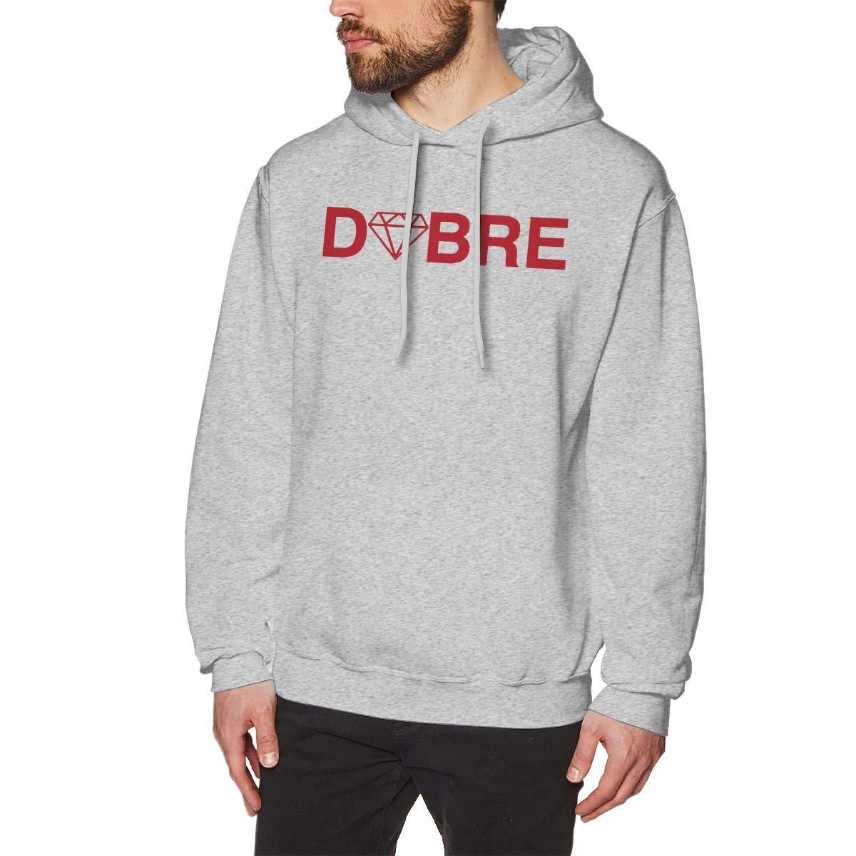 Rizhaoyue Mens Hooded Sweatshirt Dobre Personality Street Trend Creation Gray