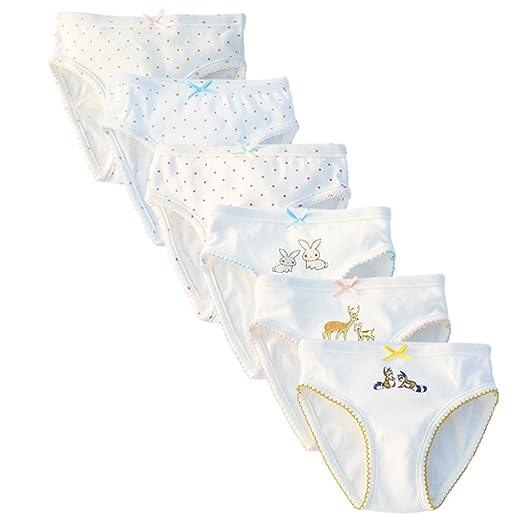 07772f8404a6 Amazon.com  benetia Girls  Underwear Soft Cotton 6-Pack  Home   Kitchen