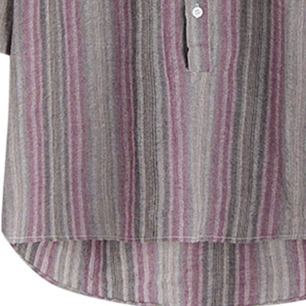 Summer Long Sleeve Striped Shirt for Men Huazi2 Casual Colorful Buttons Tops
