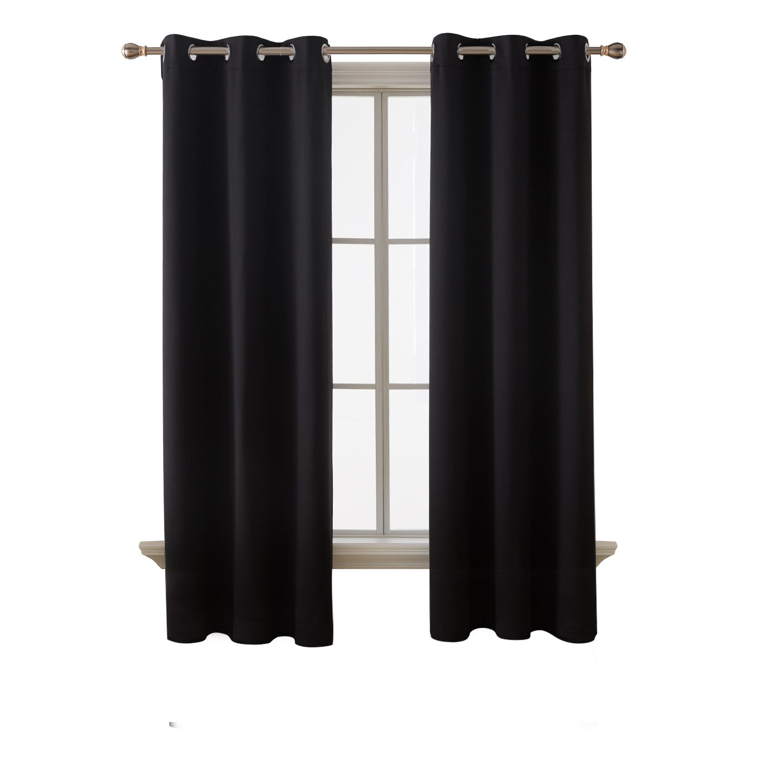 Bedroom Curtains On Amazon Small Bedroom Ideas Nyc Chalkboard Art Bedroom Bedroom Sets For Girls: Black Curtains For Bedroom: Amazon.com