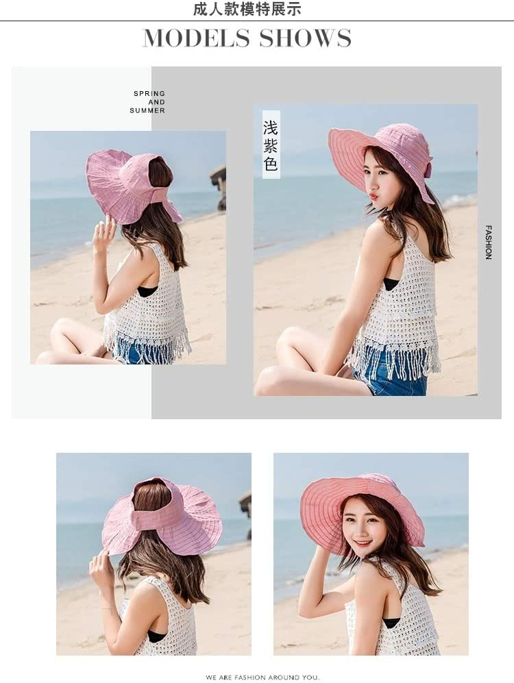 family fitted seaside beach fashion unique adjustable foldable empty top hat cap sun sun women girls summer tide breathable cute sweet lovely big virgin powder