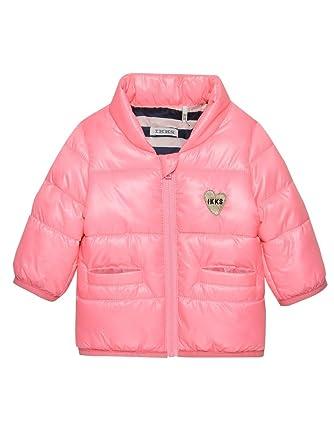 fa5f1568641f IKKS Junior Baby Girls  Jacket - Pink - 9-12 Months  Amazon.co.uk ...
