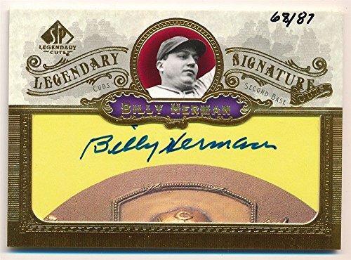 BILLY HERMAN 2006 SP LEGENDARY CUTS SIGNATURE AUTOGRAPH CUT AUTO #68/87