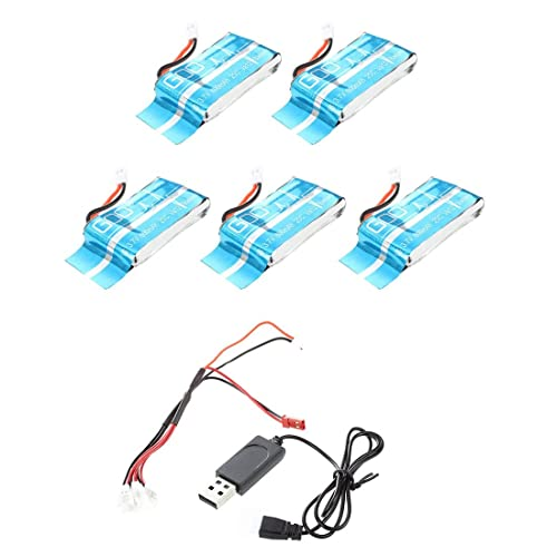 HB HOMEBOAT® Syma X5C/X5SC/X5SW 1 To 4 3.7V 600MAH Upgrade Battery Set of 5