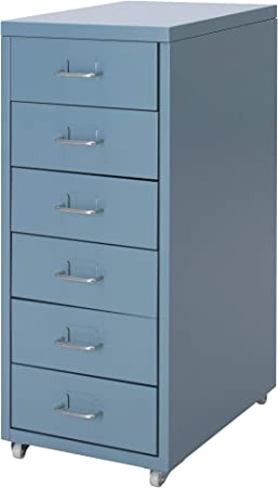 Ikea Helmer Cassettiera Con Rotelle Blu Interamente In Metallo Rinforzato Amazon It Casa E Cucina