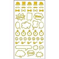 Adesivos Foil Mini Dourado Acessórios Masculinos Ref.20945-AD1921 Toke e Crie