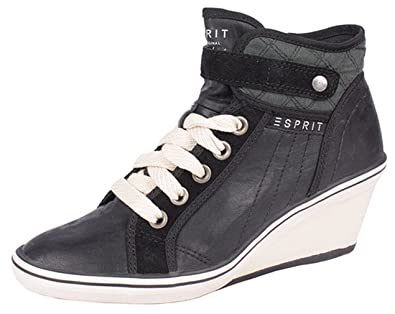 quite nice 821f7 db00b ESPRIT Damen Sneaker LEXA WEDGE mit Keilabsatz braun oder ...