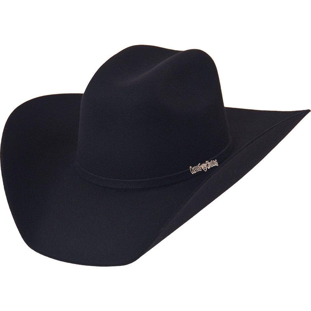 Cuernos Chuecos 6X Traditional Cowboy Felt Hat (7 1/8, Black)