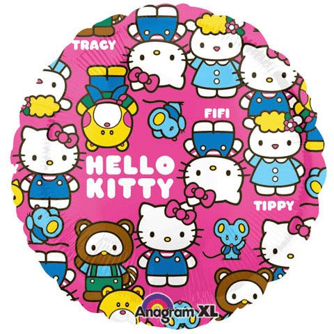 Anagram International Hello Kitty Characters Foil Balloon Pack, Multicolor]()