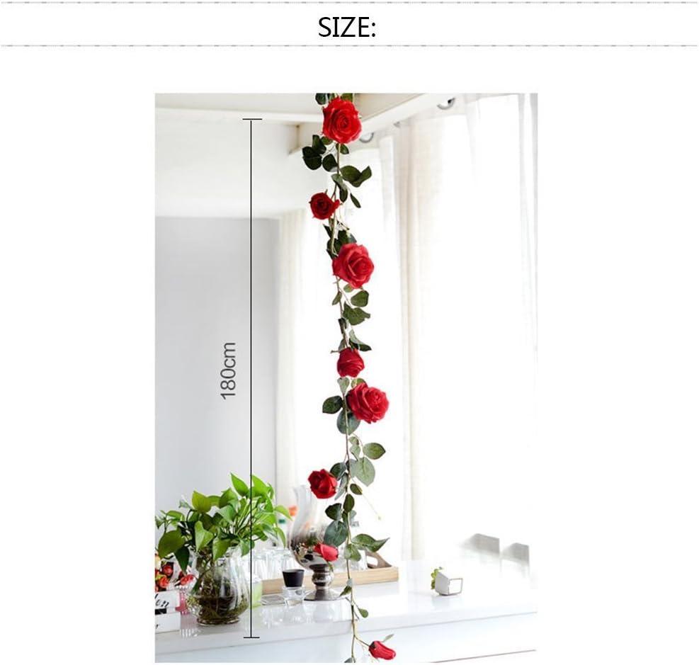 1 PCS Rose Artificial Silk Rose Flower B-blanco rosa Rosas artificiales de seda para colgar en la pared
