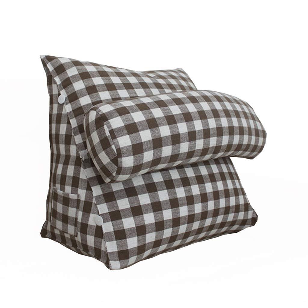 GWM Lesekissen, das perfekte Sofakissen Keilkissen für Bett und Couch Rückenstütze Lendenkissen abnehmbar (Farbe   B, größe   60x48x30cm) B07NXXRDBB Kissen Die Farbe ist sehr auffällig