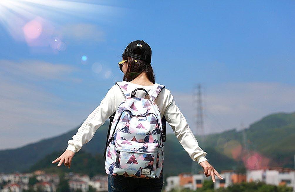YuanDiann Filles Gar/çons /École Sac /à Dos Impression De Fleurs Casual Voyage Imperm/éable Respirant Sac A Dos Scolaire /Étudiant Ado Coll/ège Cartable Avec Sac /à Crayons