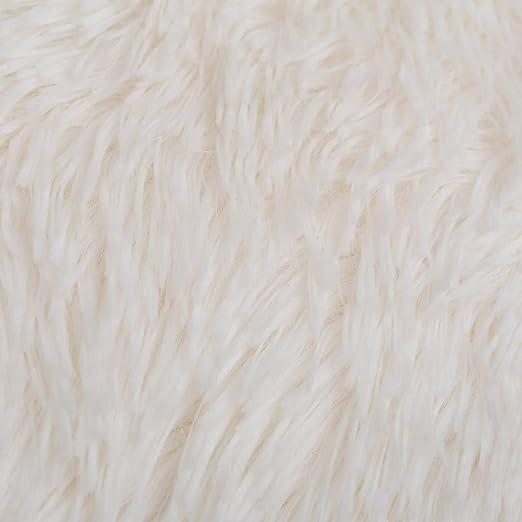 Lola Home Manta de Pelo Blanca de Microfibra Infantil para ...