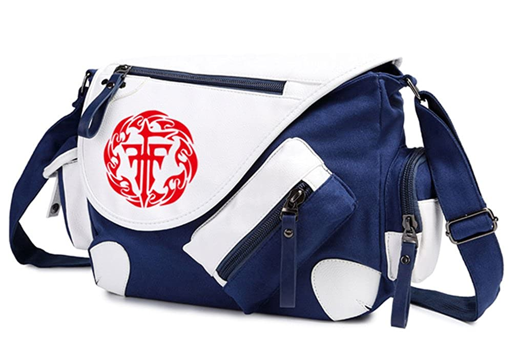 Gumstyle Group FFF Classic Shoulder School Bag Anime Cosplay Messenger Bag Blue