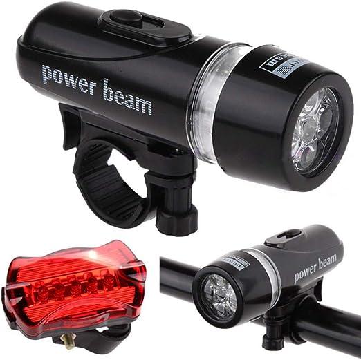 PokYr25eb Luces para Bicicleta, luz LED Delantera Trasera para ...