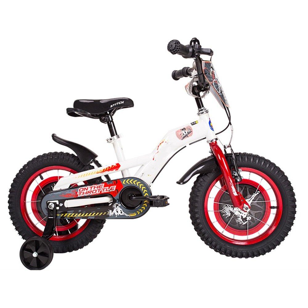 PJ 自転車 子供用自転車赤ちゃん用自転車少年少女用赤ちゃんキャリッジ16/14/12/18インチ2.4インチマウンテンタイヤ耐磨耗ダンピング 子供と幼児に適しています ( 色 : White red , サイズ さいず : 14 inch ) B07CQZ9FNF 14 inch|White red White red 14 inch