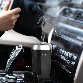 dodocool 2 1 Car Humidifiers Diffuser,Black,Ultrasonic Aromatherapy Car Air Freshener Essential Oils Diffusers for Car,Cool Car Mist Diffuser Air