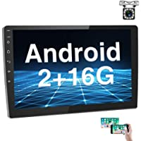 [2G+16G] Hikity 10.1 Inch Android Car Stereo with GPS Double Din Car Radio Bluetooth FM Radio Receiver Support WiFi…