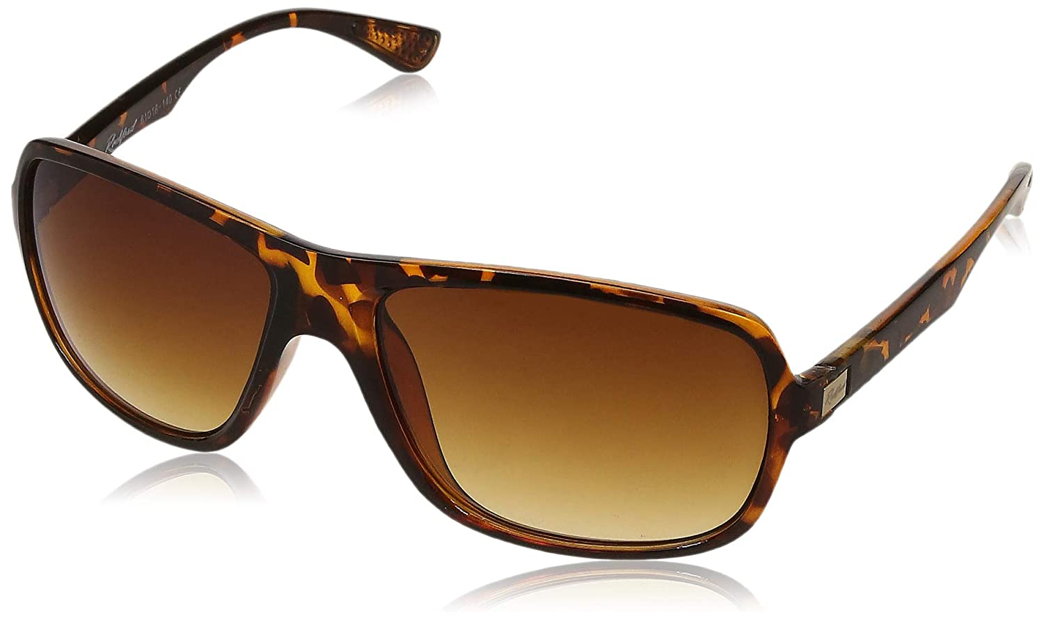 Rockford UV Protected Rectangular Unisex Sunglasses - (RF-075-C3|61|Brown Color Lens)
