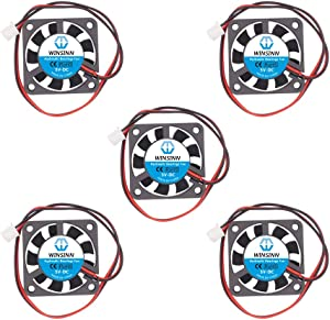 WINSINN 40mm Fan 5V Hydraulic Bearing Brushless 4010 40x10mm for Cooling PC North South Bridge Chip - High Speed (Pack of 5Pcs)