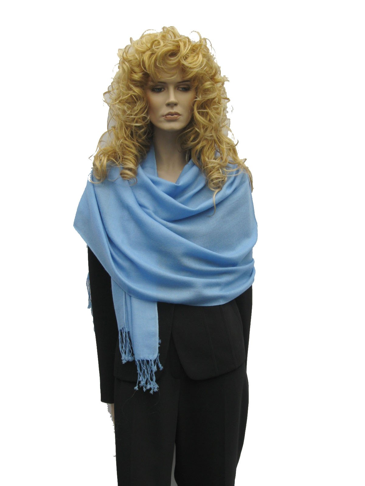 Pashmina Shawl (Pure Pashmina 2 Ply) from Cashmere Pashmina Group (SEA BLUE)