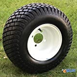 8'' WHITE Steel Golf Cart Wheels and 18x8.50-8'' Turf/Street Golf Cart Tires - Set of 4